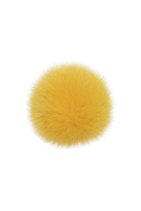Fox Fur Pom Aspen Gold