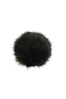 Faux Fox Fur Pom Hunter Green
