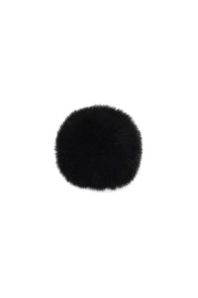 Fox Fur Pom Black