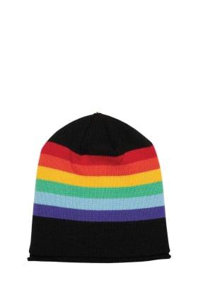 Lindo F Rainbow Multi Kimberly Merino Wool Toque Hat Beanie
