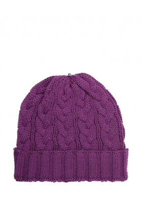 Charlie Cable Hat Amethyst