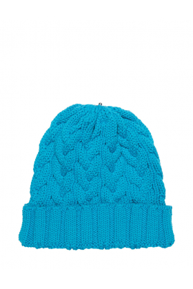Charlie Cable Hat Blue Raspberry