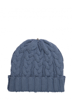 Charlie Cable Hat Nude Blue