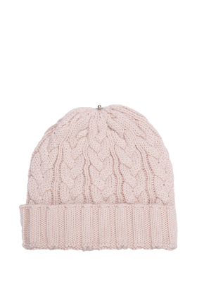 Charlie Cable Hat Pearl