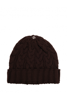 Charlie Cable Hat Chocolate