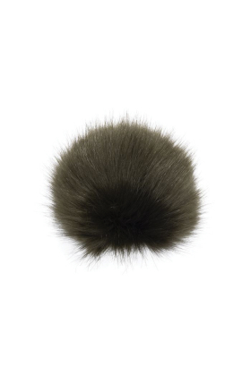 Faux Fox Fur Pom Army