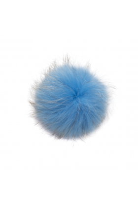 Raccoon Pom Blue Denim