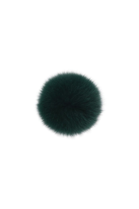 Fox Fur Pom Emerald