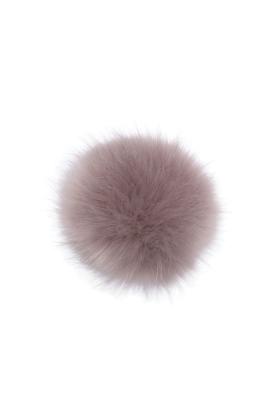 Faux Fox Fur Pom Mauve
