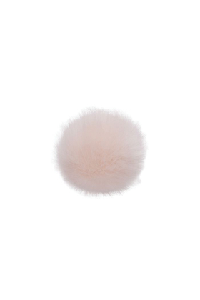 Faux Fox Fur Pom Pink Dust