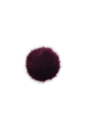 Faux Fox Fur Pom Shiraz