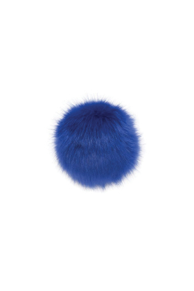 Faux Fox Fur Pom Sport Blue