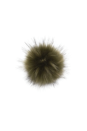 Faux Fur Raccoon Pom Army