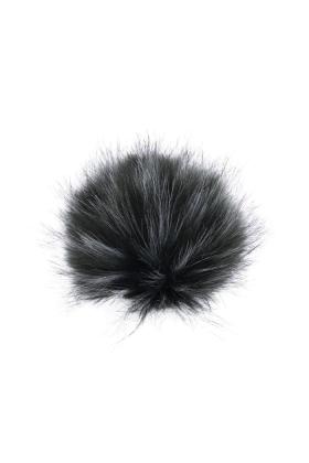 Faux Fur Raccoon Pom Emerald
