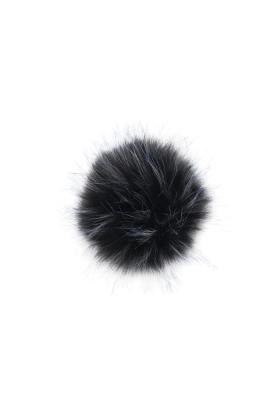 Faux Fur Raccoon Pom Midnight