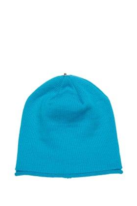 Lindo F Blue Raspberry Glossy Merino Wool Toque Hat Beanie