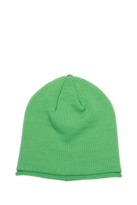 Lindo F Electric Green Glossy Merino Wool Toque Hat Beanie