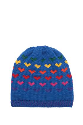 Lindo F Hailey Sport Blue Merino Wool Hat Beanie Toque