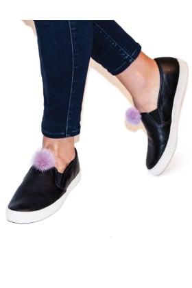 Mink Fur Clip On Poms