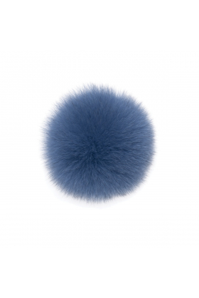 Fox Pom Nude Blue