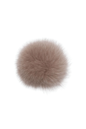 Fox Fur Pom Oatmeal
