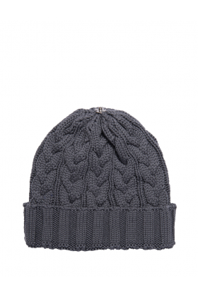 Charlie Cable Hat Pewter