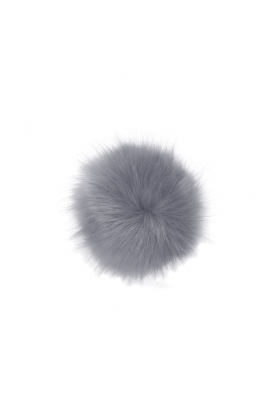 Faux Fox Pom Pewter