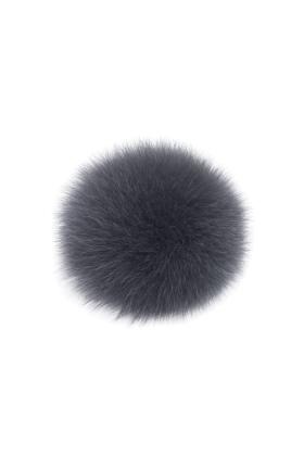 Fox Fur Pom Pewter