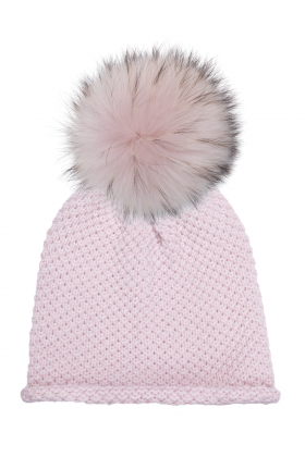 Pink Dust Waffle with Pink Dust Raccoon Pom