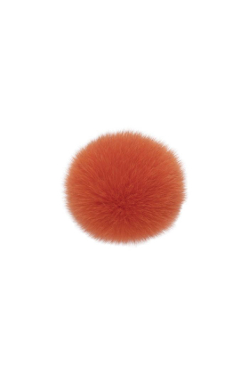 Fox Fur Pom Puffin Orange