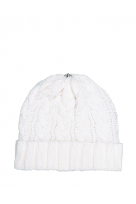 Charlie Cable Hat Pure White