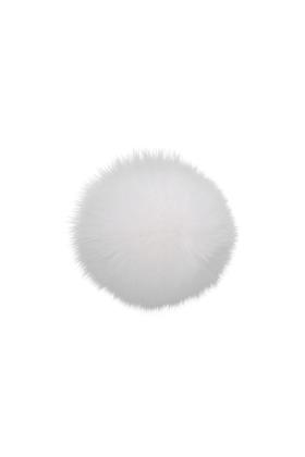 Fox Fur Pom Pure White