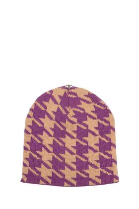 Lindo F Purple Latte Caylee Merino Wool Toque Hat Beanie