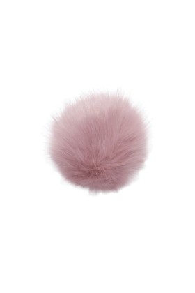 Faux Fox Fur Pom Rose