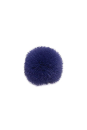 Fox Fur Pom Royal Purple