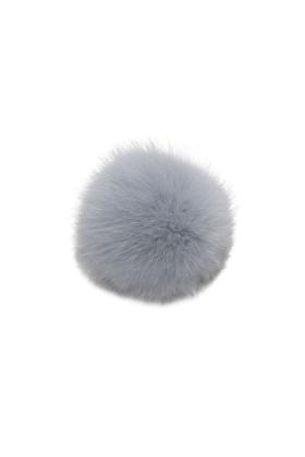 Fox Fur Pom Silver Blue