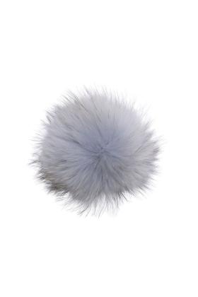 Raccoon Pom Silver Blue