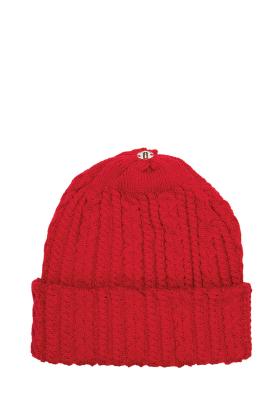 Lindo F Ski Patrol Sasha Hat Toque Beanie Interchangeable Fur Pom Scarf