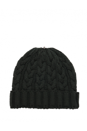 Charlie Cable Hat Black Forest