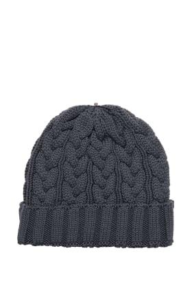 Charlie Cable Hat Granite