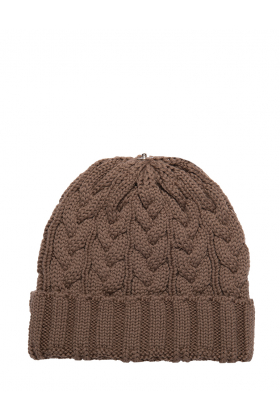 Charlie Cable Hat Latte