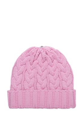 Charlie Cable Hat-Pink Mauve