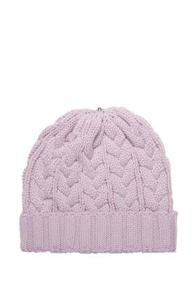 Charlie Cable Hat Mauve Linen