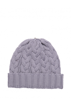 Charlie Cable Hat Mid Grey