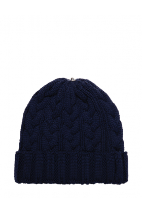 Charlie Cable Hat Navy