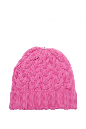 Charlie Cable Hat Poker Pink