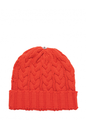 Charlie Cable Hat Puffin Orange