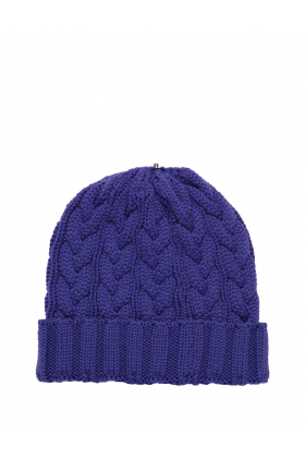 Charlie Cable Hat Royal Purple