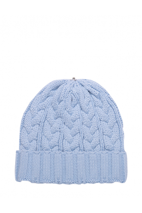 Charlie Cable Hat Silver Blue