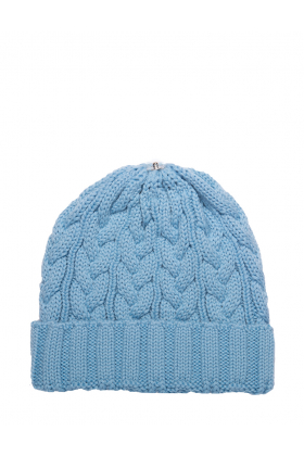 Charlie Cable Hat Sky Blue